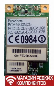 Адаптер wifi для ноутбука Broadcom BCM94312MCG 2 4 ГГц 54 Мбит/с mini PCI-E  (б/у)